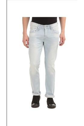 FLYING MACHINEMens 5 Pocket Slim Fit Mild Wash Jeans