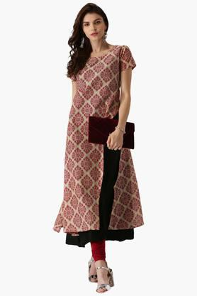 LIBAS Womens Cotton Printed A Line Kurta - 203450330