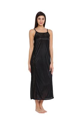 Womens Square Neck Solid Night Dress
