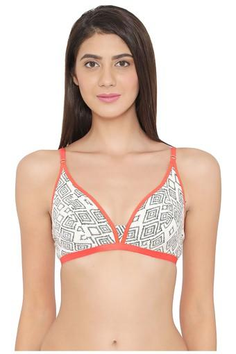 Womens Padded Non Wired Full Coverage Demi Cup Bra