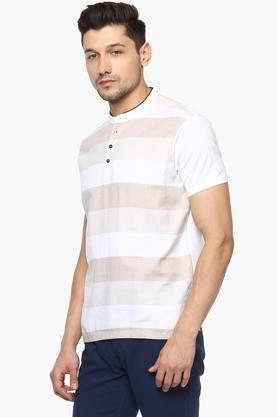 Mens Stripe Polo T-Shirt