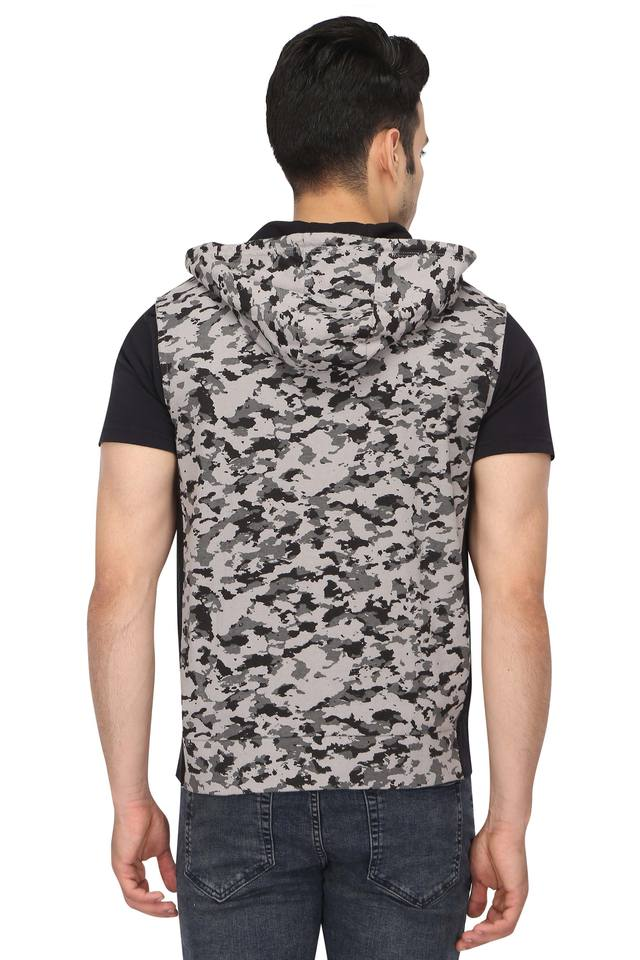 Mens Hooded Camouflage Jacket