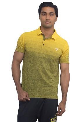 SEVENMens Colour Block Polo T-Shirt