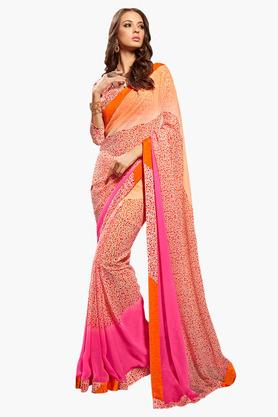 DEMARCA Womens Faux Georgette Printed Saree - 203229660