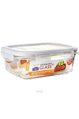 LOCK & LOCK Airtight Heat Resistant Glass Rectangular Storage Box With Lid - 630ml