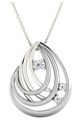 SILVER IMPRESSIONSparkles 18 Kt 0.06 Cts Diamond Pendant - P50113