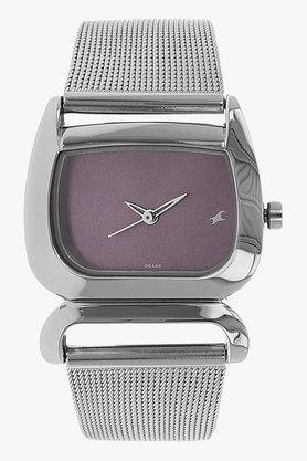 Fastrack Womens Analogue Stainless Steel Watch - NJ6091SM01C image