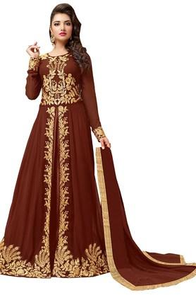DEMARCAWomens Georgette Dress Material - 203984180_9126