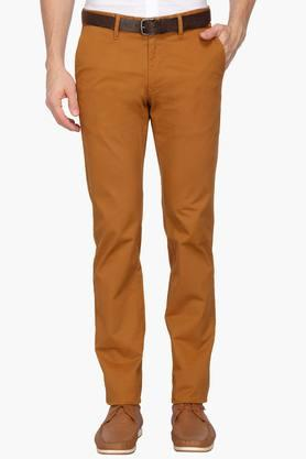 INDIAN TERRAIN Mens 5 Pocket Solid Chinos (Brooklyn Fit)