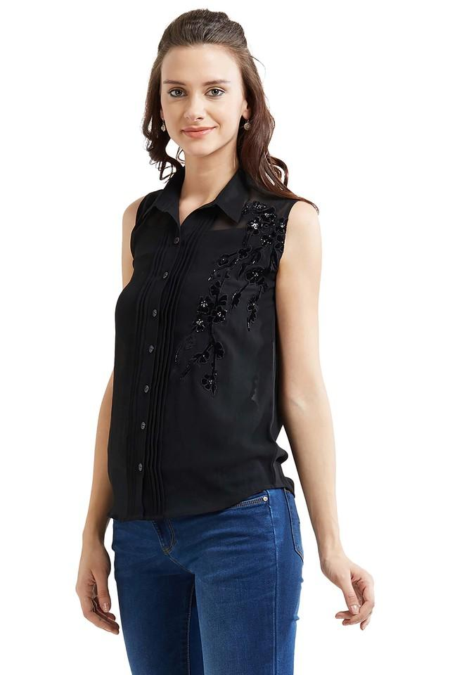 Womens Embellished Casual Shirt