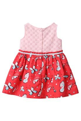 Girls Round Neck Perforated Dress