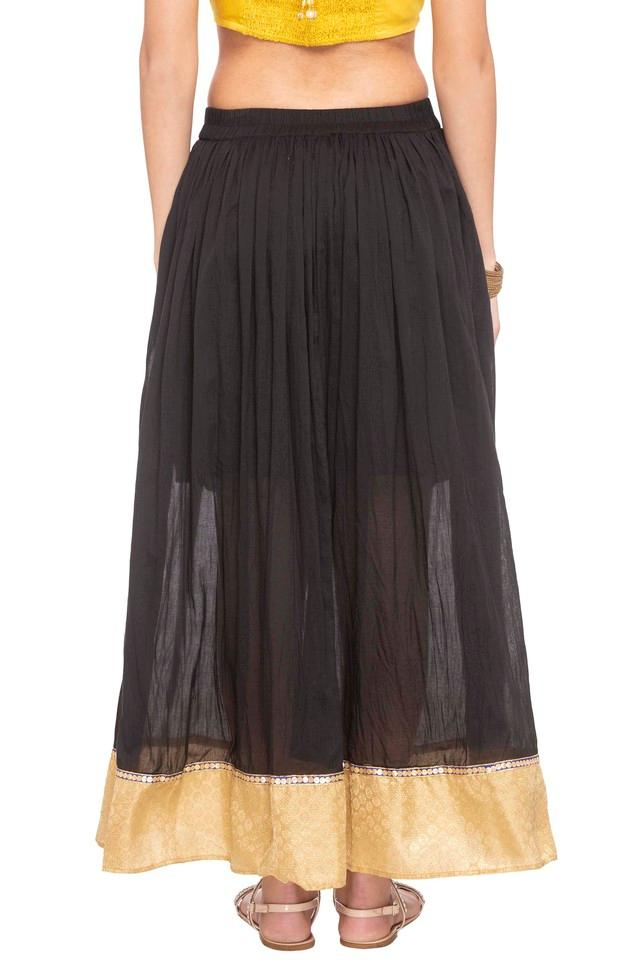 Womens Solid Full Skirt