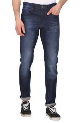 Mens 5 Pocket Whiskered Effect Jeans (Anton Fit)