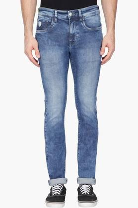 U.S. POLO ASSN. DENIMMens Skinny Fit Stone Wash Jeans (Regallo Fit)