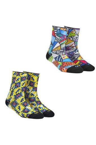 Unisex Printed and Art Bomb Print Socks - Pack of 2