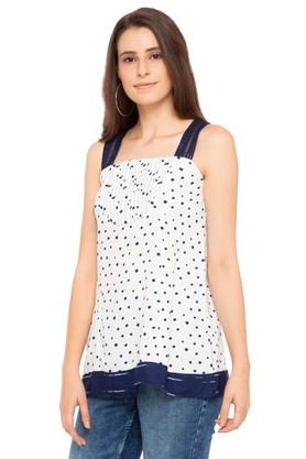 Womens Square Neck Printed Top