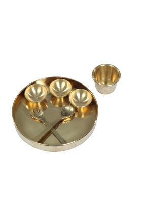 Brass Plate Pretend Play Set Pital Ki Thali