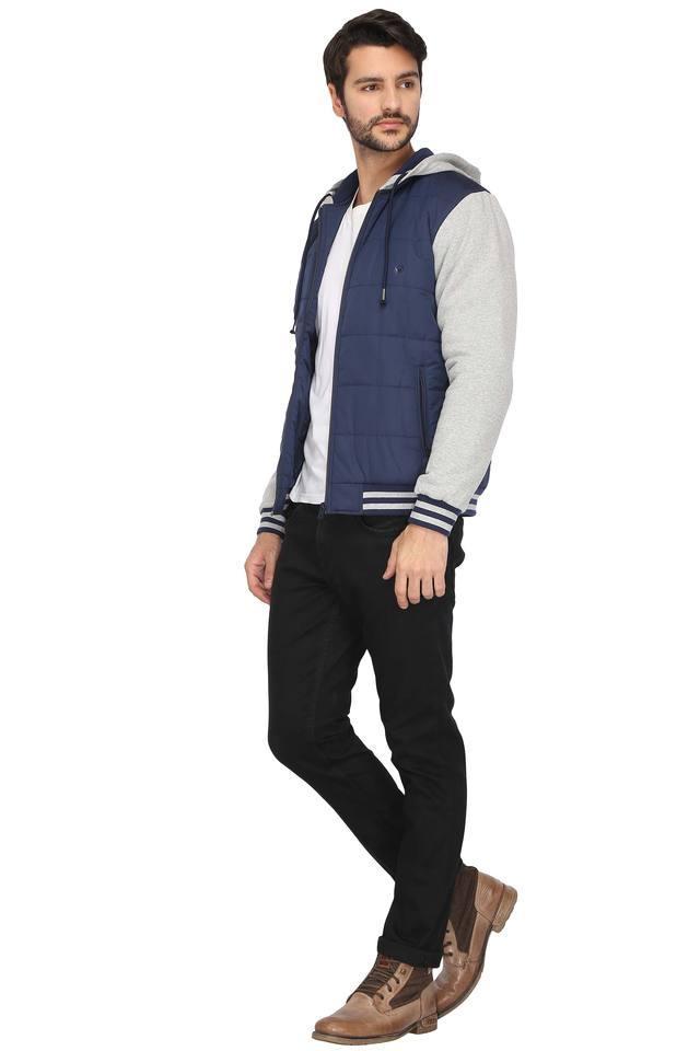 Mens Hooded Colour Block Jacket