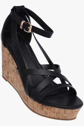 ALLEN SOLLY Womens Party Wear Buckle Closure Wedges - 202873006