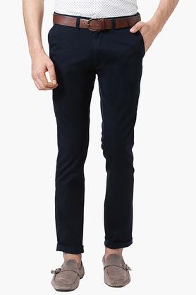 PETER ENGLANDMens Extra Slim Fit 5 Pocket Solid Chinos - 202966178