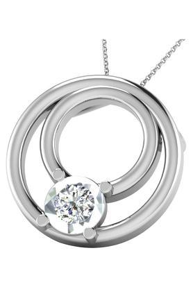 SILVER IMPRESSIONSparkles 18 Kt 0.01 Cts Diamond Pendant - DRP9636