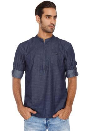 CELIO Mens Printed Casual Kurta Shirt