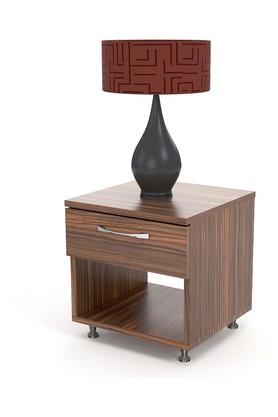 Brown Asdf Bed side Table