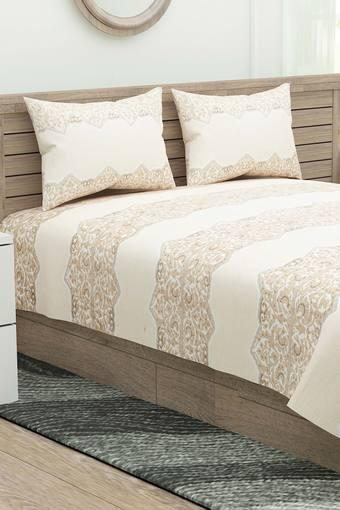 Nomadic Printed Double Bed Sheet with Pillow Cover