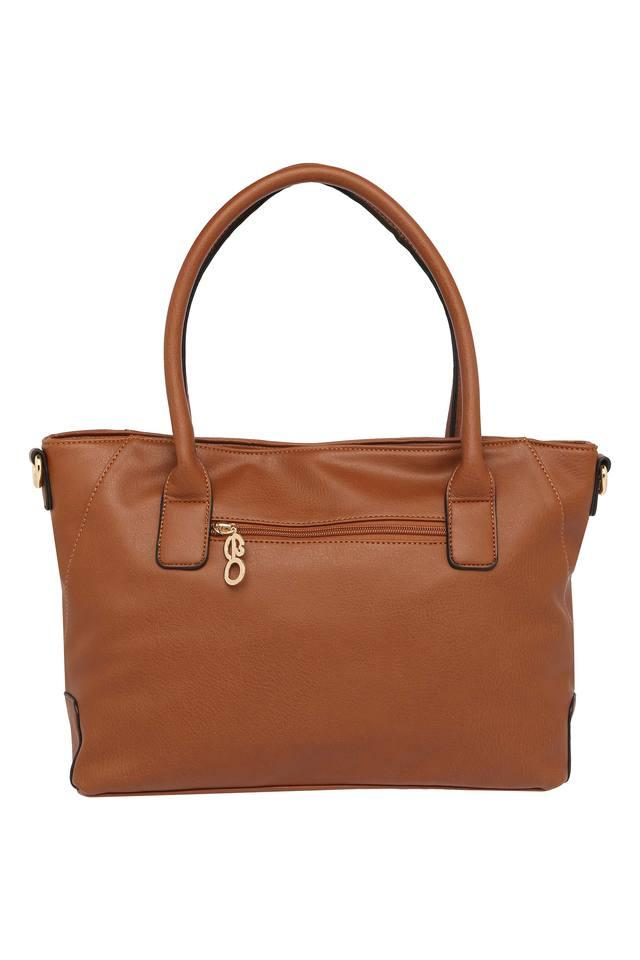 Womens Zipper Closure Tote Handbag