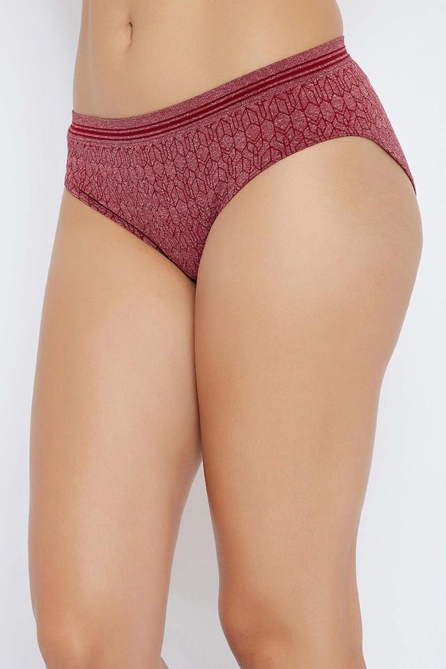 Womens Mid Waist Printed Hipster Briefs - Pack Of 3