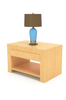Tan Rtva Bed side Table