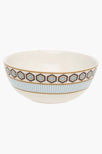 Round Convivial Printed Vegetable Bowl