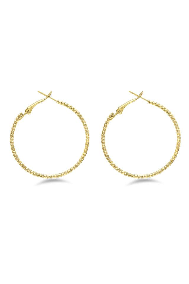 Womens Gold Plated Hoop Earrings