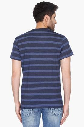 Mens Crew Neck Striped T-Shirt