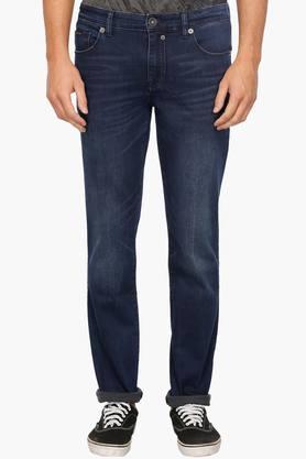 CALVIN KLEIN JEANSMens Regular Fit Whiskered Effect Jeans