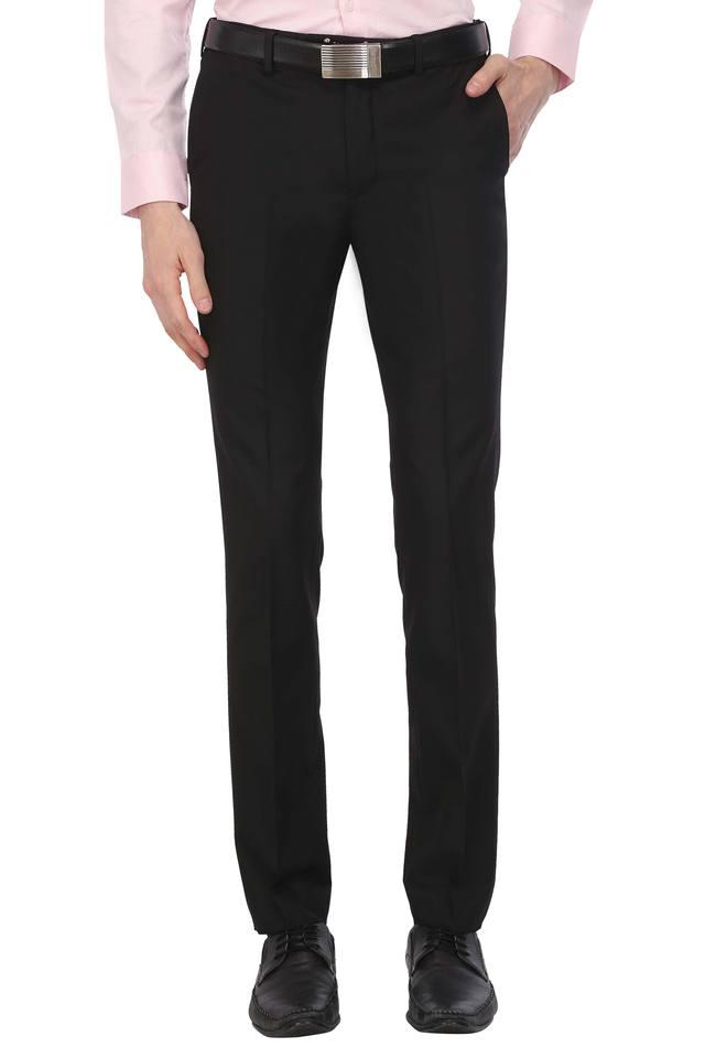 Mens Solid Formal Trousers