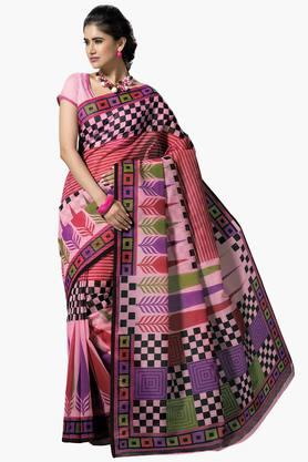 DEMARCA Womens Cotton Blend Printed Saree - 203229468
