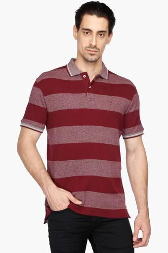 a09350c4 Buy INDIAN TERRAIN Mens Regular Fit Stripe Polo T-Shirt | Shoppers Stop