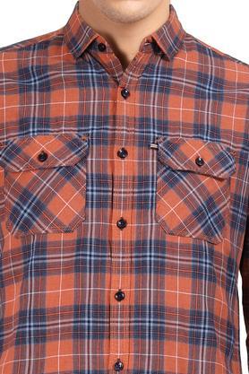 LIFE - OrangeCasual Shirts - 4