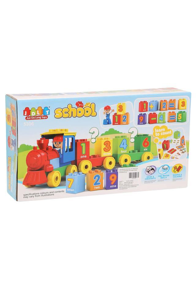 Unisex My First Counting Train Building Blocks