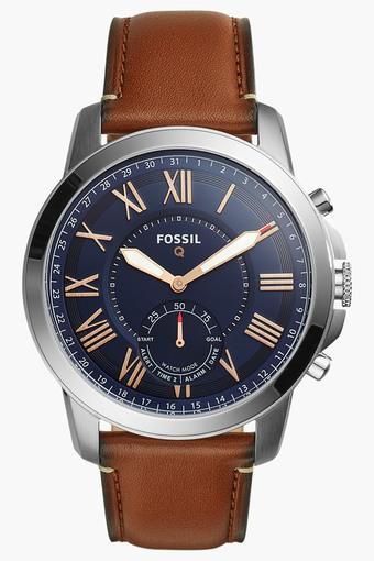 Mens Q Grant Light Brown Leather Hybrid Smartwatch - FTW1122