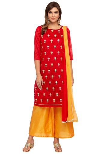 KASHISH -  RedSalwar & Churidar Suits - Main