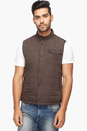 U.S. POLO ASSN.Mens Zip Through Neck Solid Reversible Jacket