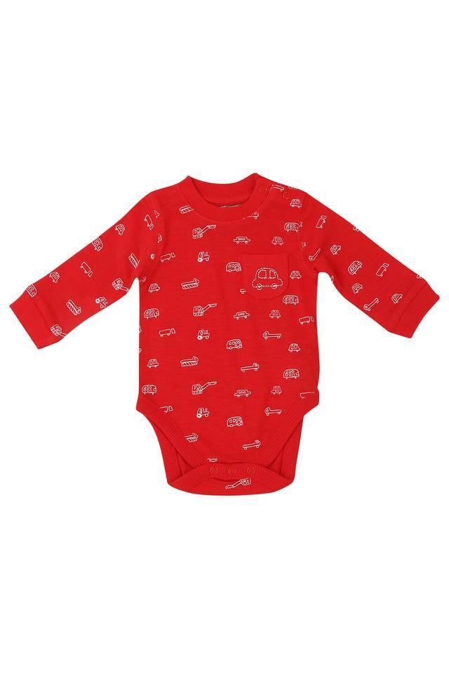 Kids Round Neck Printed Bodysuit