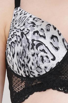 Womens Animal Print Padded Non Wired T-Shirt Bra