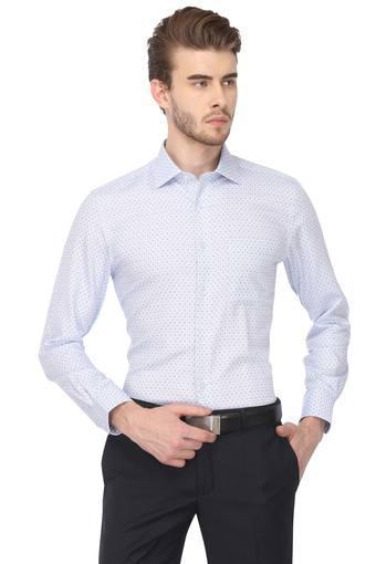 Mens Classic Fit Dot Pattern Formal Shirt