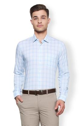 Mens Slim Fit Slim Collar Check Shirt