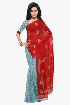 DEMARCA Womens Faux Georgette Printed Saree - 203229606