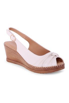 CERIZWomens Casual Wear Buckle Closure Peep Toes