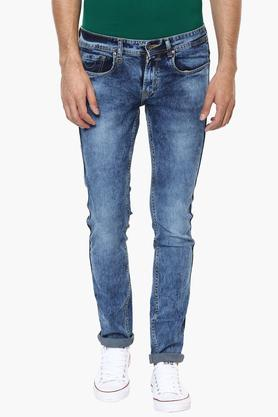 PETER ENGLAND JEANSMens Extra Slim Fit Stone Wash Jeans